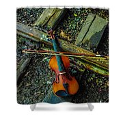 Lost Violin Shower Curtain