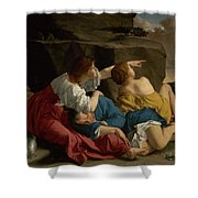 Lot And His Daughters Shower Curtain