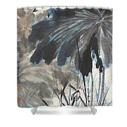 Lotus In The Pond Shower Curtain