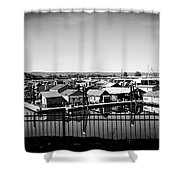 Lotus Isle Houseboats Shower Curtain