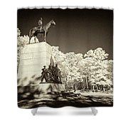 Louisiana Monument At Gettysburg Shower Curtain