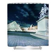 Louvre Museum 6b Art Shower Curtain