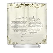 Love Birds Ketubah- Reformed Humanistic Version  Shower Curtain