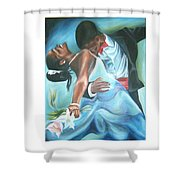 Love Dance Shower Curtain
