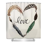 Feathers Of Love Shower Curtain