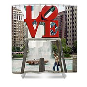 Love Sculpture Shower Curtain
