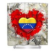 Love Venezuela Shower Curtain