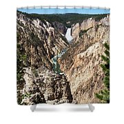 Lower Falls From Artist Point In Yellowstone National Park Shower Curtain