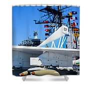 Ltv A-7 Corsair II  Shower Curtain