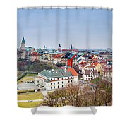 Lublin Old Town Panorama Poland Shower Curtain