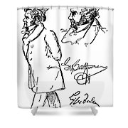 Ludwig Van Beethoven Shower Curtain by Granger