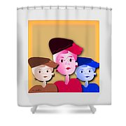 Luncheon With The Girls Shower Curtain