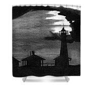 Lydia Ann Lighthouse Shower Curtain