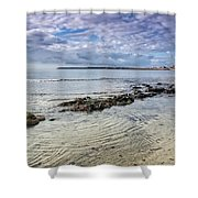 Lyme Regis Seascape - October Shower Curtain