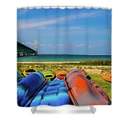Mackinac Bridge 2241 Shower Curtain