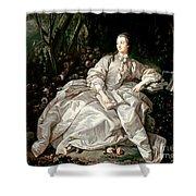 Madame De Pompadour Shower Curtain by Francois Boucher