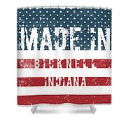 Made In Bicknell, Indiana Shower Curtain