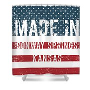 Made In Conway Springs, Kansas Shower Curtain