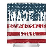 Made In Crawfordsville, Indiana Shower Curtain