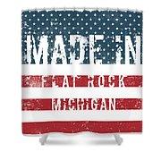 Made In Flat Rock, Michigan Shower Curtain