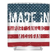 Made In Port Sanilac, Michigan Shower Curtain