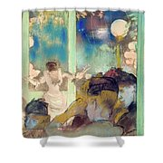 Mademoiselle Becat At The Cafe Des Ambassadeurs  Shower Curtain