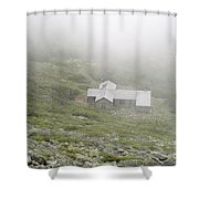 Madison Spring Hut - White Mountains New Hampshire  Shower Curtain