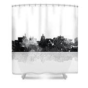 Madison Wisconsin Skyline Shower Curtain