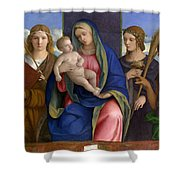Madonna And Child With Saints Shower Curtain