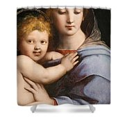 Madonna Of The Candelabra Shower Curtain