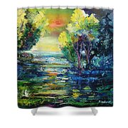 Magic Pond  Shower Curtain