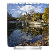 Magoksa Buddhist Temple Shower Curtain