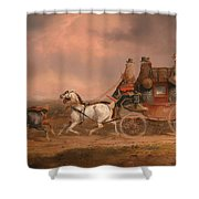 Mail Coaches On The Road Shower Curtain