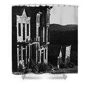 Main Street Ghost Town Elkhorn Montana 1971 Shower Curtain