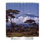 Majestic Mount Kilimanjaro Shower Curtain