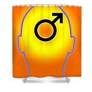 Male Symbol Shower Curtain