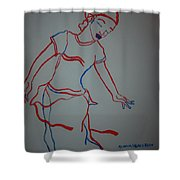 Mali Traditional Dance Shower Curtain