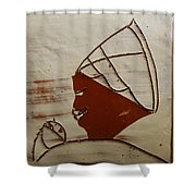 Mama 6 - Tile Shower Curtain
