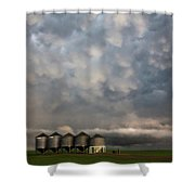 Mammatus Storm Clouds Shower Curtain