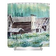 Mammoth Ghost Town Montana Shower Curtain