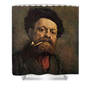 Man With A Pipe Shower Curtain