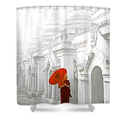 Mandalay Monk Shower Curtain