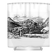 Many Glacier Hotel Shower Curtain