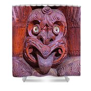 Maori Carving New Zealand Shower Curtain