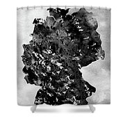 Map Of Germany-black Shower Curtain