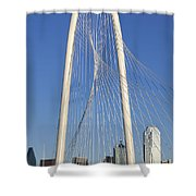 Margaret Hunt Hill Bridge In Dallas - Texas Shower Curtain