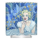 Marilyn Monroe, Old Hollywood Series Shower Curtain