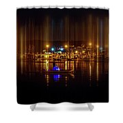 Marine At Night Shower Curtain