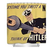 Marine Corps Recruiting Poster From World War Shower Curtain