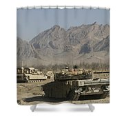 Marines Conduct Combat Operations Shower Curtain